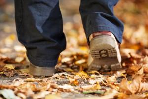 Image of young adult walking away